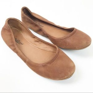 Lucky Brand Tan Suede anemie Ballet Flats